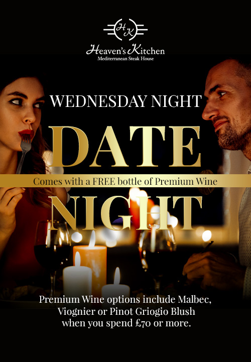 couple on a date night poster for a restaurant in farnham